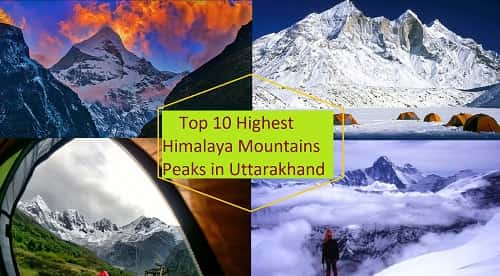 List of mountain peaks of Uttarakhand