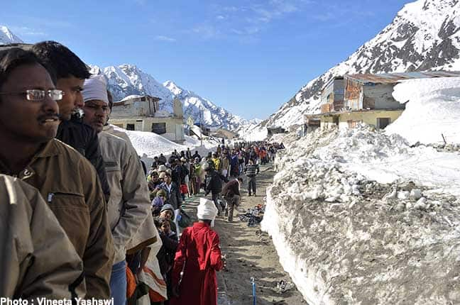 kedarnath during heavy snowfall