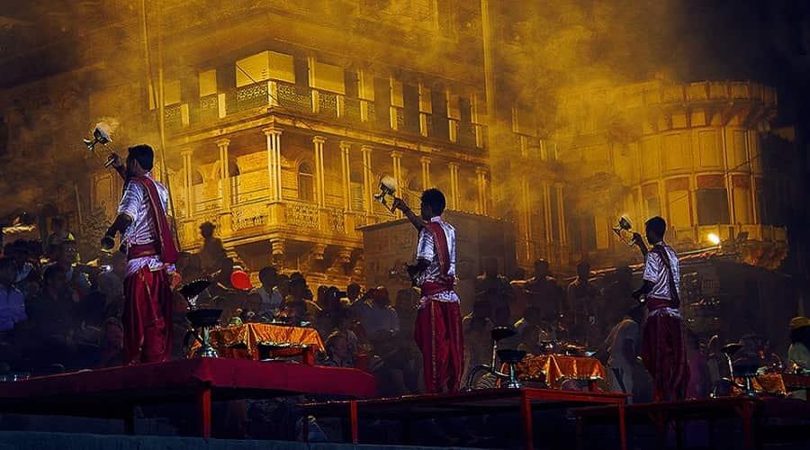 Aarti at Assi Ghat, Varanasi