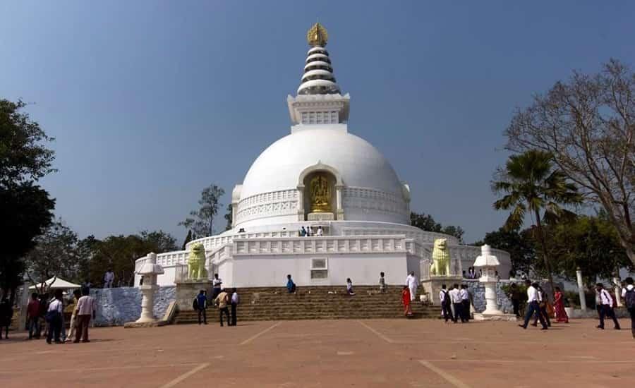 Shanti Stupa, Rajgir