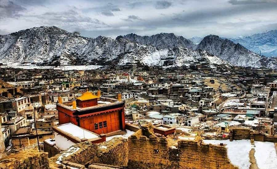 Leh City on a cold winter day