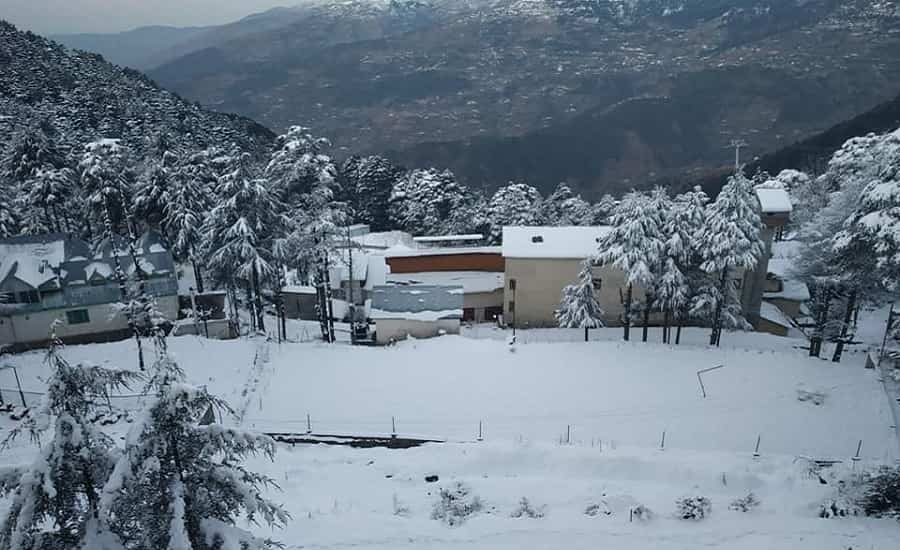 Patnitop after Snowfall