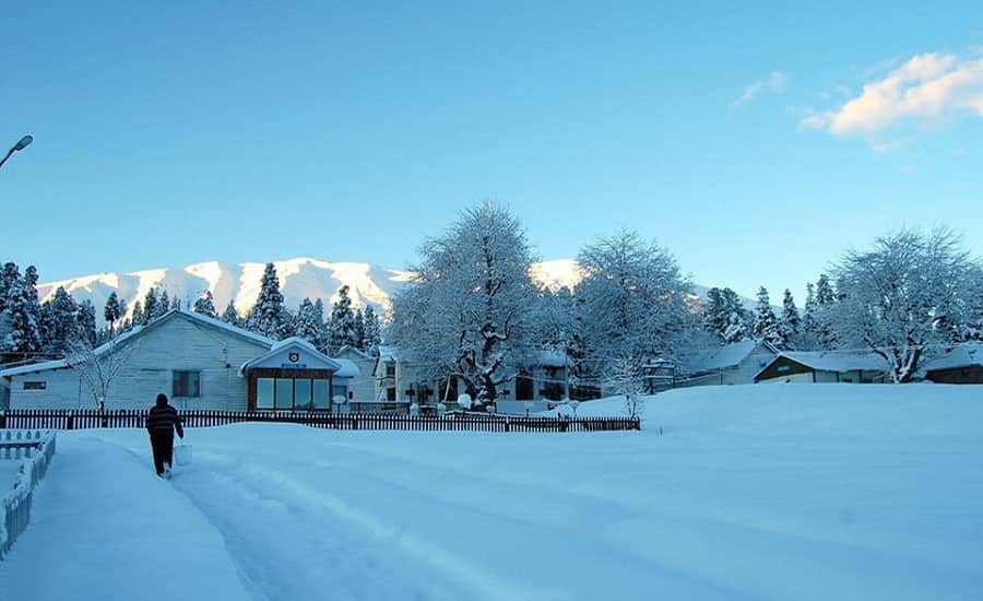 Snowfall at Gulmarg, Kashmir