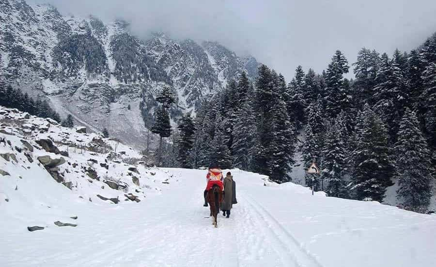 Sonmarg after snowfall
