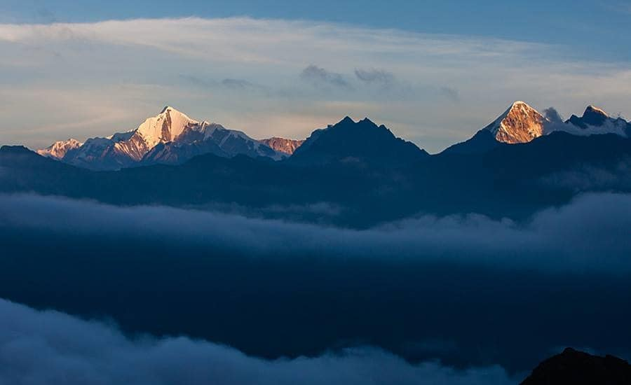 Sunrise over Mt.Nanda Kot, Uttarakhand