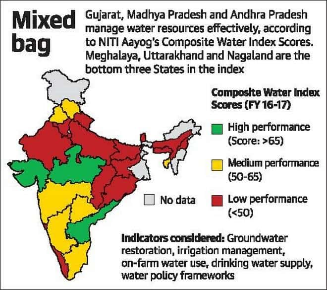 water crisis in india with map